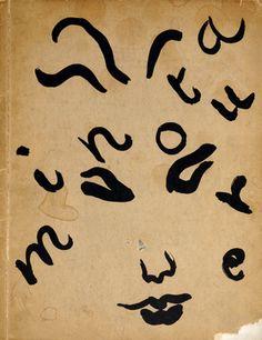 'Minotaure' book cover by Henri Matisse, 1936, surrealist journal edited by E. Teriade, Paris.