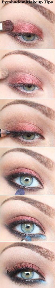 Eyeshadow makeup tips.