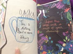 Wreck this Journal infuse this page with a smell of your choosing I love tea!