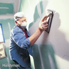 Techniques and tools for sanding drywall so it's perfectly smooth, plus tips for dust control. Drywall Finishing, Drywall Mud, Drywall Repair, Man Cave Diy, Man Cave Home Bar, Sanding Tips, Drywall Installation, Ultimate Man Cave, Diy Home Repair