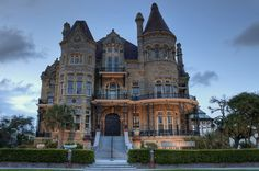 The Bishops Palace Victorian Architecture Victorian Castle, Victorian Homes, Victorian Era, Victorian Architecture, Modern Architecture, Galveston Texas, Castles, Mansions, Palaces