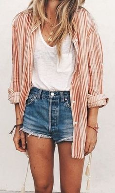 10 summer outfits with mini shorts without seeing you vulgar - Outfits primavera - Mini Shorts, Best Shorts, Short Shorts, Outfits Primavera, Bbq Outfits, Fall Outfits, Shorts Outfits Women, Outfits With Jean Shorts, Denim Shorts Outfit Summer