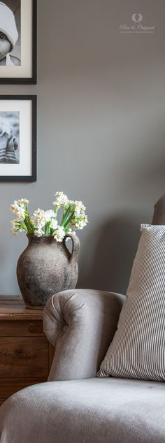 The official website of Pure & Original Warm Grey, Chalk Paint, Wall Decor, Colours, Pure Products, Pillows, Living Room, The Originals, Decoration