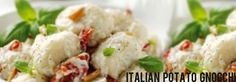 Italian Potato Gnocchi with Goat's Cheese Recipe : Cook Vegetarian Magazine Vegetarian Magazine, Vegetarian Cooking, Vegetarian Recipes, Cheese Recipes, Veggie Recipes, Italian Potatoes, Clean Eating, Healthy Eating, Gnocchi