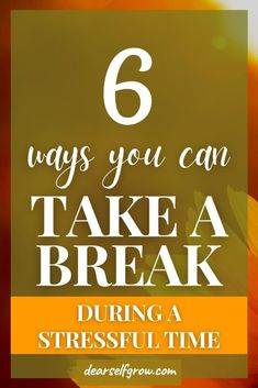 How to take a break to actually feel rested. - Dear Self, Grow. Take A Break, Take That, Dear Self, Stress, Feelings, Self Care Activities, Good Mental Health, Coping Mechanisms, Do Anything