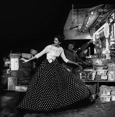 Carmen Dell'Orefice, Photographed by Gleb Derujinsky, April 1957
