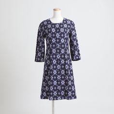HIHAKU コートワンピース 古代絣/紺 - kurume kasuri textile online store 久留米絣テキスタイル