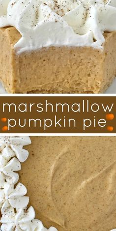 No Bake Marshmallow Pumpkin Pie - No Bake Pumpkin Pie with Marshmallows is a sweet and creamy twist to classic pumpkin pie. Marshmallow, Cool whip, and pumpkin combine to make a delicious pumpkin pie in a store-bought graham cracker crust. Pumpkin Baking Recipes, No Bake Pumpkin Pie, Baked Pumpkin, Pumpkin Carving, Pumpkin Spice, Pumpkin Pie Cupcakes, Pumpkin Pie Recipe Graham Cracker Crust, Pumpkin Pie Cheesecake, Pumpkin Pumpkin
