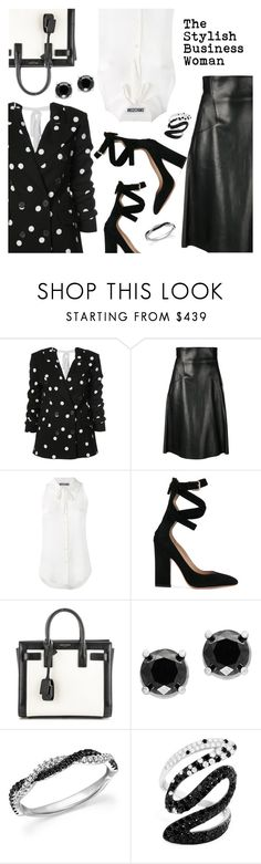 """""""The Stylish Business Woman"""" by dressedbyrose ❤ liked on Polyvore featuring Monse, Alexander McQueen, Moschino, Valentino, Yves Saint Laurent, Effy Jewelry, Bloomingdale's and polyvoreeditorial"""