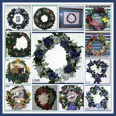 """Now I know what you're thinking, """"You've never met a wreath you haven't loved. Yeah, right Linda.... you love everything crafty. In fact, there isn't any craft you've met that you haven't loved!"""" Well, that may be true but wreaths certainly are one of my favorites. I love making them and love decorating with them.... Paper Floral Arrangements, Love Is Free, Craft Tutorials, How To Memorize Things, Floral Wreath, Arts And Crafts, Wreaths, Crafty, My Favorite Things"""