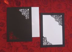 Laser cut invitations - Blank Paper print your own invitation/cards. there's also a lace one that's fantastic