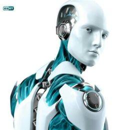 future, futuristic, cyberpunk, Humanoid, Robot, android, droid, drone, white, azure, future robot, futuristic robot, Eset, future is now by FuturisticNews.com