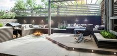Bilderesultat for rekkverk glass og tre Outdoor Areas, Outdoor Rooms, Outdoor Decor, Scandinavian Garden, Villa, Planters, Cottage, Backyard, Glass