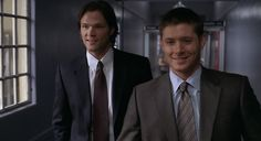 Sam and Dean ...suited up  #Supernatural  #TimeIsOnMySide 3.15