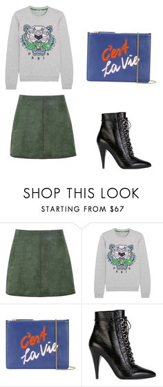 """""""Paris fsw"""" by phamthuquynh on Polyvore featuring George J. Love, Kenzo, Lizzie Fortunato and Yves Saint Laurent"""