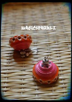 Pink and orange jhumka