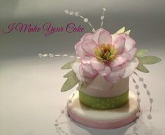 Wafer Paper Peony Cake by SosiP