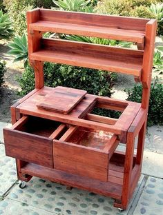 Eli's Potting Benches, Built to Last Decades | Forever Redwood