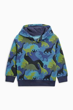 Buy Navy Dino Camo All Over Print Hoody (3mths-6yrs) from the Next UK online shop
