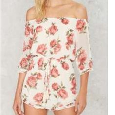 Nasty Gal Off Shoulder Romper New