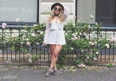 This lace playsuit is my favorite thing to wear at the moment. Would love to know what you think <3 http://www.lily-like.com/outfit-day-lace-playsuit/