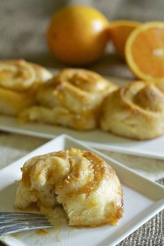 Orange Sweet Rolls, perfect addition to a holiday breakfast table!