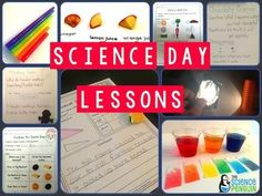 Science Day: 30 Science Experiments for Kindergarten and First Grade-- paid resource for planting seeds, light, sound, gravity, matter, food chains, colors, soil, magnets, heat, shadows, force and motion, clouds, rocks, and much MUCH more!