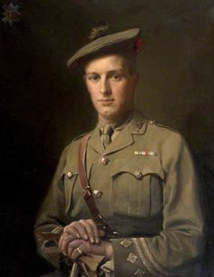 Captain Talbert Stevenson, Black Watch ,killed in action 24 February 1917, by Anton Abraham van Anrooy