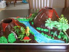 The volcano cake I made for Liam's 1st birthday.  :)