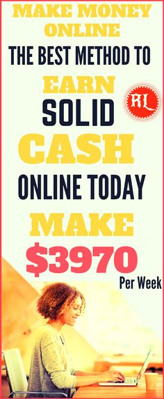 Make money online in 2017. The best ways to earn passive income online from home. Work from home and earn $3970 per week with genuine methods. Click the pin to see how >>>