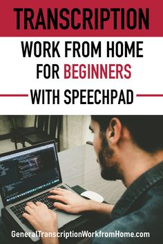 Transcription Work from Home for Beginners With Speechpad Typing Jobs From Home, Online Typing Jobs, Work From Home Careers, Online Jobs, Make Money From Home, Make Money Online, How To Make Money, Captioning Jobs, Transcription Jobs For Beginners