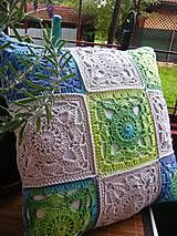 Úžitkový textil - Háčkovaný vankúš  - 4440400_