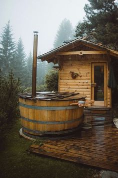 Best Tiny House, Tiny House On Wheels, Small House Plans, Home Design, Tiny House Design, Design Design, Design Ideas, Location Airbnb, Sauna House
