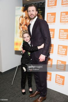 McKenna Grace and Chris Evans attend 'Gifted' New York premiere at New York Institute of Technology on April 6, 2017 in New York City.