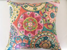 Bright Colourful Cushions Mosaic Pillows. by IslandHomeEmporium
