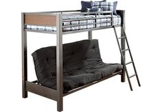 Shop for a Louie Twin Futon Loft Bed at Rooms To Go Kids. Find  that will look great in your home and complement the rest of your furniture. #iSofa #roomstogo