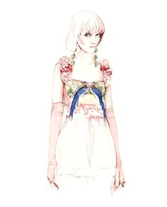 Gucci Spring Summer fashion illustration by António Soares