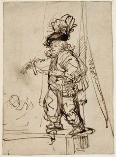 Rembrandt Harmensz. van Rijn (Leiden 1606 - 1669 Amsterdam)  Land / Region Niederlande Titel Der Quacksalber Datierung um 1638-1640 Objektbezeichnung Zeichnung Technik / Bildträger Feder in Braun Maße 17,4 x 12,7 cm