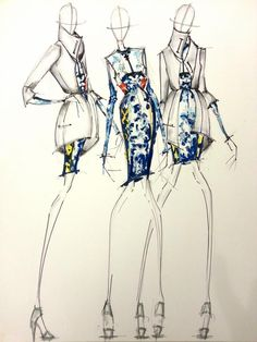 nice Fashion Illustration I did for a Mary Katrantzou fashion competition. Just found...