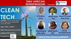 Opportunities in Clean Tech - DMV African Entrepreneurs (Washington, DC) - Meetup