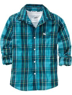 Boys Plaid Shirts | Old Navy   for my cowboys