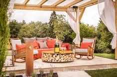 "Feste feiern in der exklusiven Champagnerlounge ""The Sparkling Spirit"" in der Parkanlage Golden Hill, Spa, Lounge, Outdoor Furniture Sets, Outdoor Decor, Patio, Country, Home Decor, Decorating Kitchen"