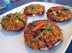 Všechny recepty | Veganotic Portobello, Vegan Recipes, Vegan Food, No Cook Meals, Tandoori Chicken, Salmon Burgers, Tofu, Lunch, Snacks