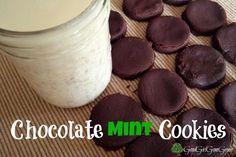 Chocolate Mint Cookies - (No Bake) Coconut flour, cocoa, sweetener, coconut oil, peppermint extract, vanilla #glutenfree #paleo