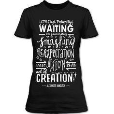 Creation Hamilton An American Musical T Shirt Womens (M, Navy)   Amazon.com
