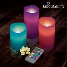 Regalo Día de la Madre : VELAS LED EMOTICANDLE (PACK DE 3)