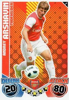 2010-11 Topps Premier League Match Attax #9 Andrey Arshavin Front