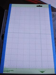 How to take a Cricut cutting mat and turn it into a Silhouette SD cutting mat. Great idea that I will use!