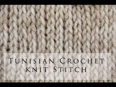 My Tunisian Crochet: Tunisian Knit Stitch (Tks) want to try this sometime in the…