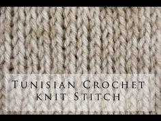 My Tunisian Crochet: Tunisian Knit Stitch (Tks)